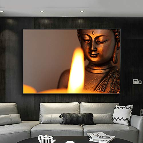 Jigsaw puzzle 1000 piece Buddha statue and candlelight art picture painting jigsaw puzzle 1000 piece scotland Educational Intellectual Decompressing Toy Puzzles Fun Family Game f50x75cm(20x30inch)