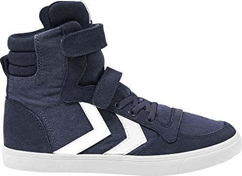 hummel Unisex-Kinder Slimmer Stadil HIGH JR Hohe Sneaker, Blau (Dress Blue 7459), 40 EU