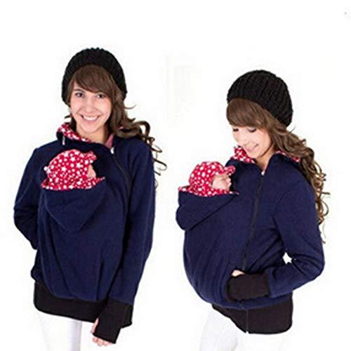Designs 3 En 1 Mama Chaqueta Sudadera Canguro con Capucha Top Portador...