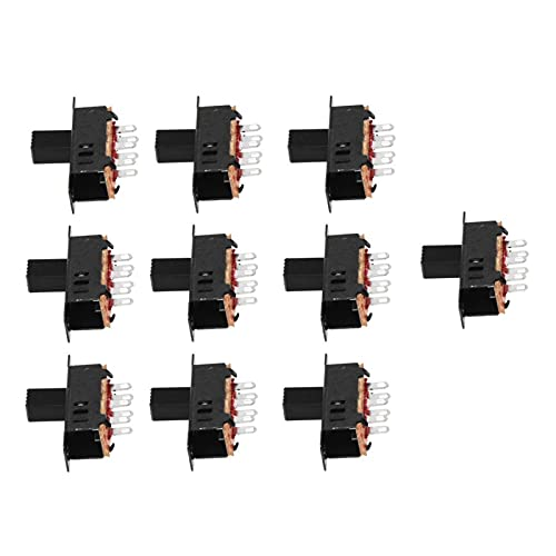XIOFYA 10 x DC 0.5A 50V 3 Posición 2P2T DPDT Panel Monte Slide Slud Slide SS23D32