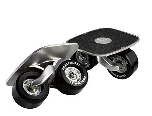 Drift Freeline Skates mit 70mm Räder und ABEC 7 Kugellager (Schwarz)
