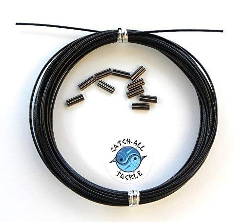 Stainless Steel Black Vinyl Coated Cable Kit 30' With Crimps