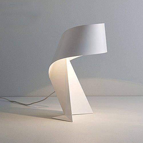 Einfache Tischlampe Schwarz Schmiedeeisen Tischlampe Kreative Origami Arbeit Leselampe Treffen Schlafzimmer Wohnzimmer Büro Hotel, Φ23cmH32cmE27