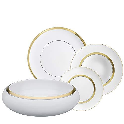 Domo Gold - Vajilla de porcelana (66 piezas)