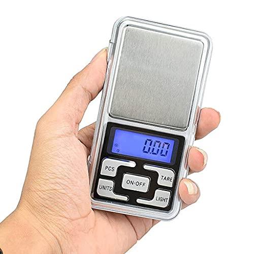Bahama Báscula de Precisión tipo Tanas o Tanita para Peso Cocina Digital y Balanza de Gramos para medir Alimentos de Bolsillo. Desde 0.01g hasta 200g