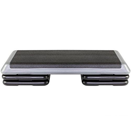 The Step Original Aerobic Platform for Total Body Fitness – Health Club, Grey, No DVD