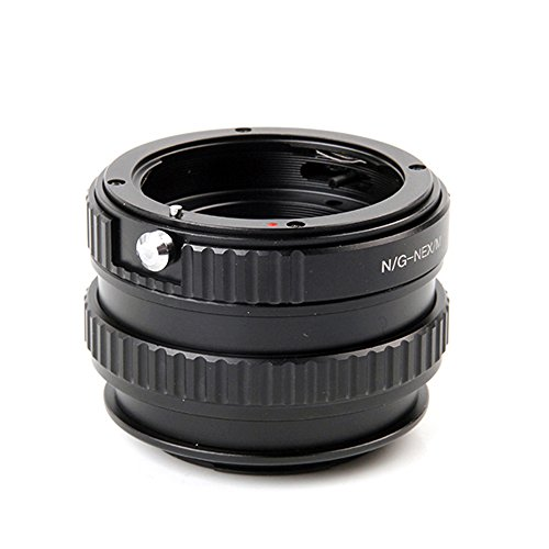 Pixco Verstelbare Macro naar Infinity Lens Adapter Pak voor Nikon G Lens aan Sony E Mount NEX A6500 A5100 A6000 A5000 A3000 NEX-5T NEX-3N NEX-6 NEX-5R Camera