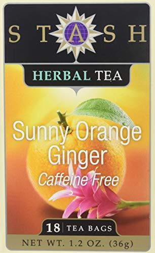 Stash Tea - Erstklassiger koffeinfreier sonniger orange Ingwer-Tee - 18 Teebeutel