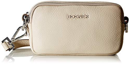 Bogner Andermatt Avy Schultertasche Damen Tasche aus Rindsleder, xhsz, 5x10x18 cm, beige (taupe 104)