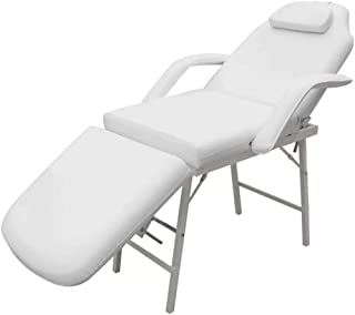 Massage Table Chair Bed Portable Beauty Therapy Treatment White 3 Fold Aluminium