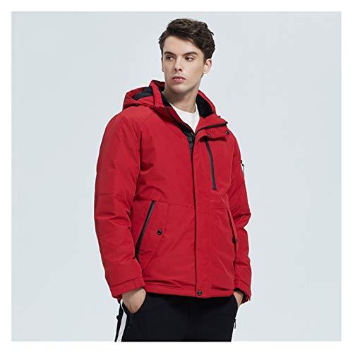 TBAO Herbst Und Winter Neue Herren Kapuzenmantel Warme Herrenjacke Mode Herrenbekleidung (Color : M305, Size : 56)