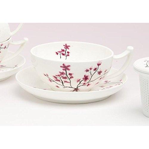 Tasse mit Untertasse CHERRY BLOSSOM Kirschblüten Porzellan 300ml TeaLogic