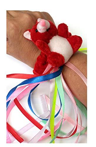 rot Teddybär Armband - sensorische Aktivitäten für Senioren
