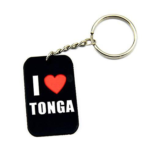 ZBDuDu 2ST Silikon-Armband I Love Tonga Ich Tonga Weiche Silikon-Hundekarte Keychain Liebe