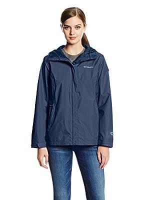 Columbia Women's Arcadia II Waterproof Breathable Jacket with Packable Hood, Navy Blue, Small