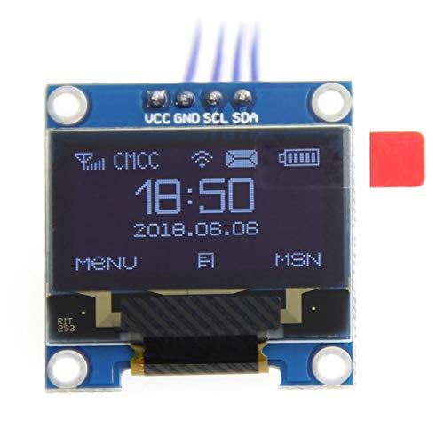 Kongqiabona-UK 1pc White Color 0.96 Inch Oled Display Module 128 * 64 Oled Lcd Display I2C 0.96 Iic Serial 128x64 Replacement
