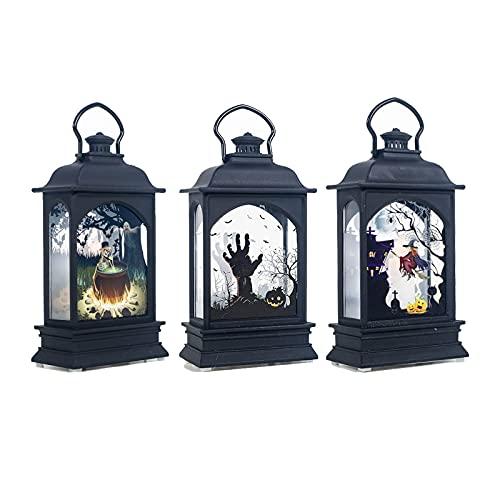 3個セット ハロウィン ランタン LEDライト 提灯 パーティ 飾り ハロウィングッズ お化け屋敷 庭 室内 装飾 照明飾り