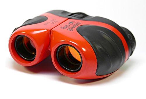 famglasses Kinderfernglas 8x21, rot, kleines, leichtes Fernglas zur Tierbeobachtung, beim Spaziergang, am Meer, im Urlaub, bei Sportveranstaltungen und Konzerten