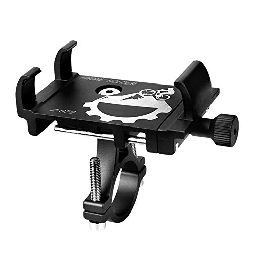 Soporte Celular Bicicleta 2021 soporte de teléfono de bicicleta de aluminio compatible con 3-6.8 pulgadas del teléfono GPS Soporte de teléfono de bicicleta ajustable compatible con soporte de moto de