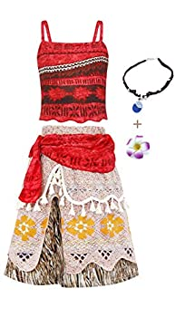 Jurebecia Girls Costume For Girls Crop Top Tassel Skirt Dress Up Party Cosplay Clothes Set Kids Outfits 1-10Years  red+accessories 10/140 6-7Years