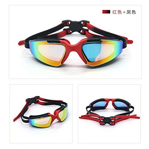 MHP zwembril | voor mannen vrouwen volwassenen - beste niet-lekkende anti-mist UV-bescherming helder zicht Zwart