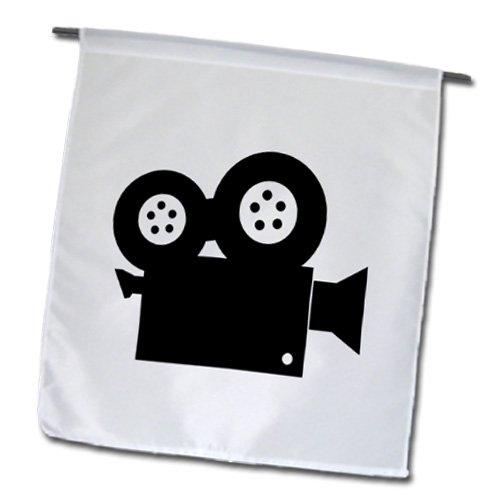 3dRose FL_173990_1 Bild von Filmkamera-Kunstdruck, Gartenflagge, 30,5 x 45,7 cm