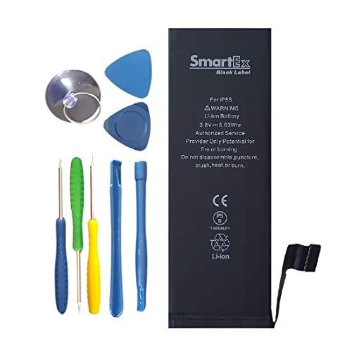 Smartex New Black Label Batería de Repuesto Compatible con iPhone 5S | Kit de reparación Incluido | 1560 mAh | 2 Años de Garantía