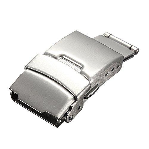 ROUHO 16-24Mm Cinturino Bracciale in Acciaio Inox Fibbia A Farfalla-18mm