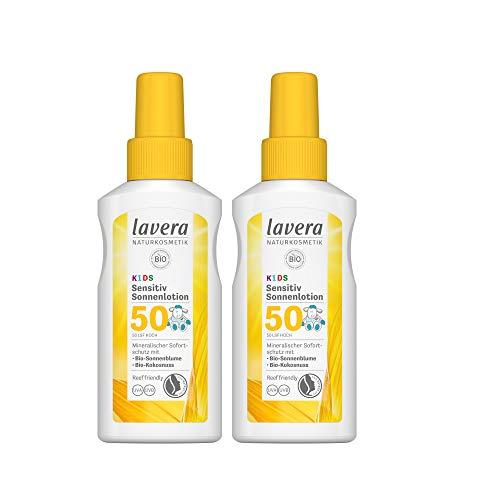 2x 100ml lavera Sensitiv Sonnenlotion LSF50 Kids Sonnencreme