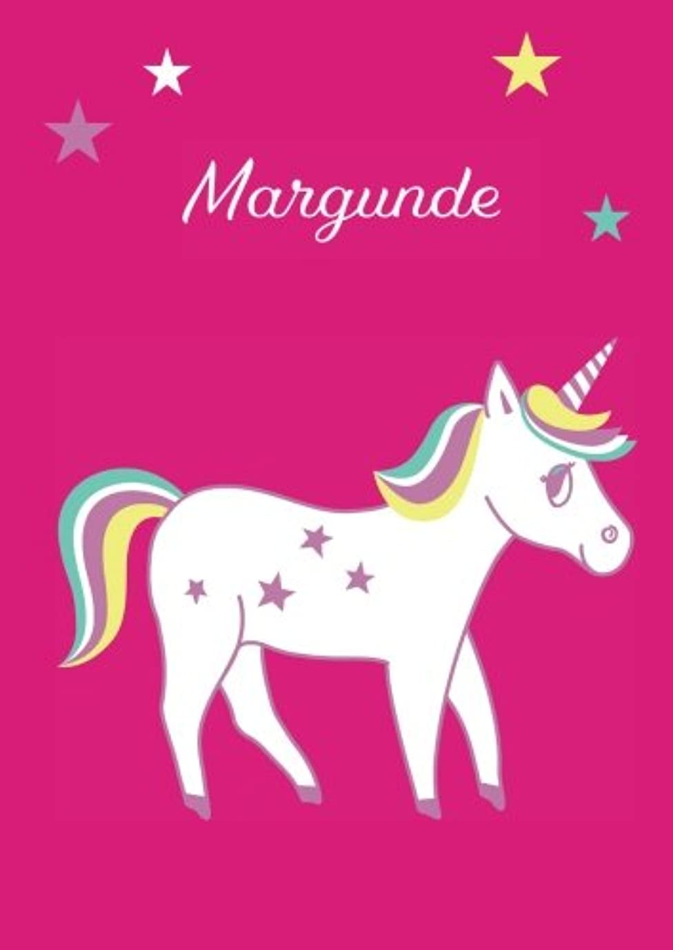 曖昧な宇宙宇宙飛行士Margunde: Einhorn Malbuch / Tagebuch / Notizbuch - DIN A4 - blanko