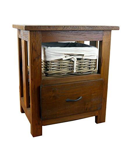 livasia Java Kommode aus Teakholz | Nachtschrank aus Massivholz | Teakholzschrank der Marke Asia Wohnstudio | Badezimmer- Schlafzimmer Kommode | (Handarbeit)