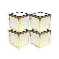 YINKUU 4個/セット 透明バルーンボックス ギフトボックス 誕生日パーティーの装飾ギフト シャワー洗礼 包装 贈り物 結婚式用品 家装飾
