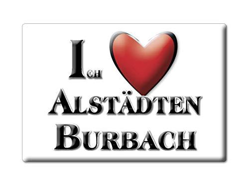 Enjoymagnets ALSTÄDTEN BURBACH (NW) Souvenir IMANES DE Nevera Alemania Nordrhein Westfalen IMAN Fridge Magnet Corazon I Love