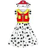 Sunny Fashion Vestido para niña Pata Marshall Máscara Patrulla Disfraz Fiesta de Halloween 6 años