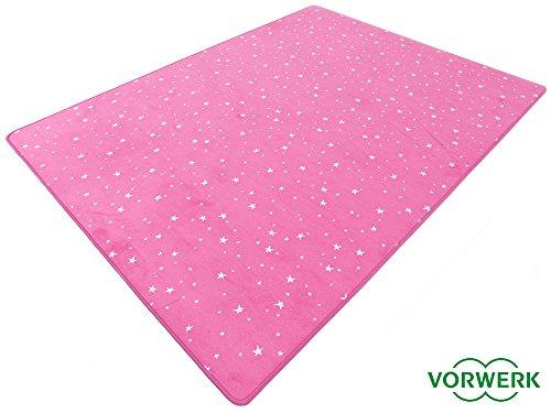 HEVO Vorwerk Bijou Stars pink Teppich | Kinderteppich | Spielteppich 200x300 cm Sonderedition