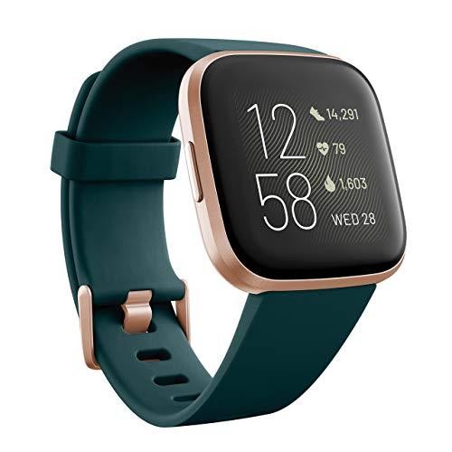 Fitbit Versa 2 - Smartwatch de salud y forma física, Verde y Rosa, con Alexa integrada