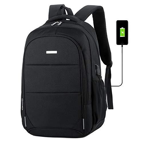 Lpiotyubeib Mochila, El engañar Mochila Hombro del Ordenador portátil del morral del Bolso expectante Capacidad de Carga USB de los Hombres Bolsa de Viaje (Color : Black)