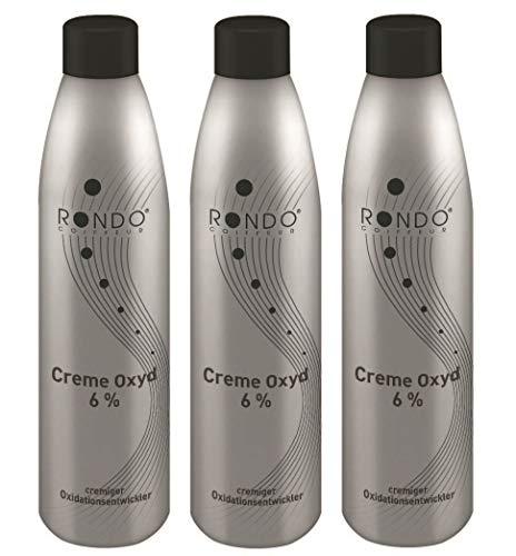 Rondo Cremeoxyd 6% 250ml Creme Entwickler Oxidant Oxidationsmittel (3 Stück)