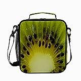 Bolsa de almuerzo aislada para kiwi, frutas y vitaminas, reutilizable, enfriador, congelable, térmica, a prueba de fugas, bolsa de contenedor para oficina, escuela, picnic, senderismo, almuerzo