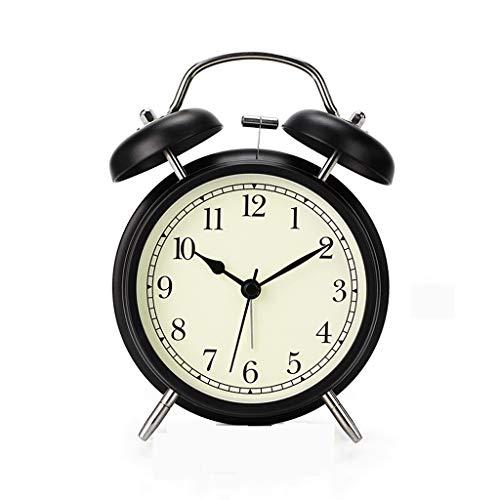 Reloj de Mesa Nordic Lindo Reloj Despertador de Metal Lumino
