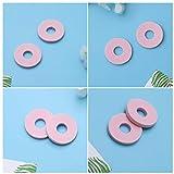Hemoton Almohadillas de Callos Suaves de 90 Piezas Almohadillas Autoadhesivas para Los Pies de Los Dedos de Espuma Juanete (Redondo Rosa)