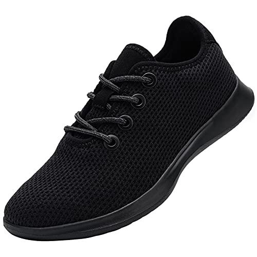 DYKHMATE Zapatillas de Running de Mujer Zapatos para Gimnasio Ligero Respirable Sneakers Impermeable Zapatillas de Deporte Pies Descalzos(Negro,36 EU)