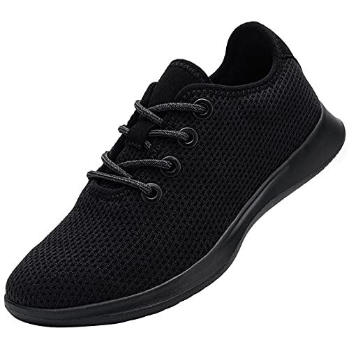 DYKHMATE Scarpe da Ginnastica Donna Corsa Casual Sportive Leggere Fitness Running Sneakers Interior all'Aperto Idrorepellente Piedi Nudi(Nero,36 EU)