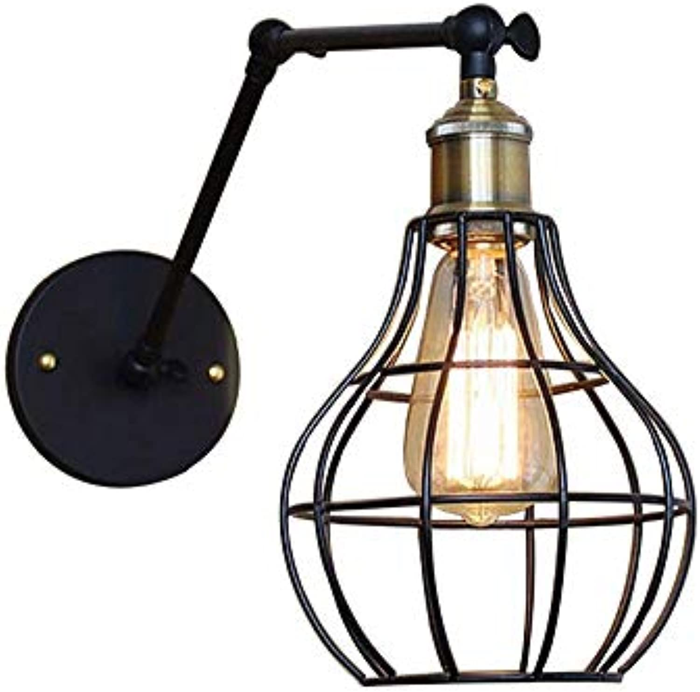 WSXXN Wandleuchte kommt mit Schalter Loft Industrial Style Wandleuchte Retro Einfache O-Design Wandleuchte Hintergrund Wanddekoration Lampe Balkon Gang Wohnzimmer Beleuchtung