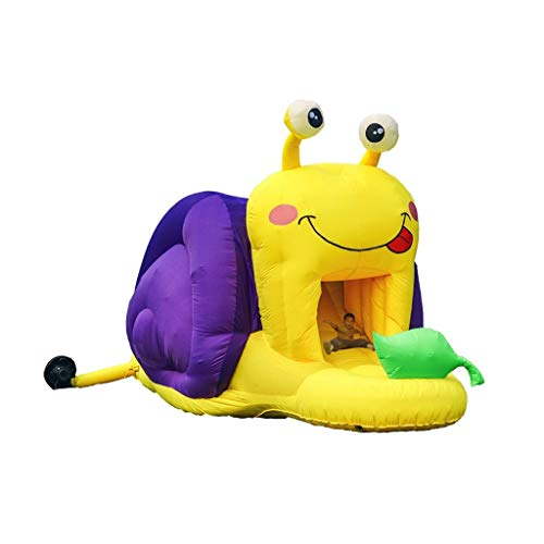 Inflatable castle Snail Shape Slide Outdoor Trampoline Children's Play Facilities (Color : Yellow, Size : 642 * 286 * 276cm)