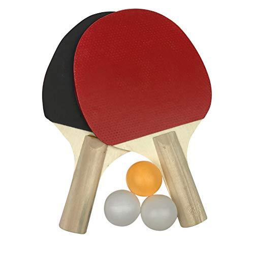 LIOOBO Raqueta de Tenis de Mesa de Goma para Principiantes Entrenamiento de...