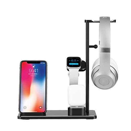 OH Cargador de Soporte de Carga de Aleación de Aluminio de 4 In 1 Puerto de Aluminio Adecuado para Iphone 11 12 Mini Pro Max X Xs Plus Compatible para I 1 2 3 4 5 Airpods Carga dire