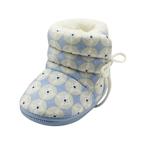 Vovotrade Newborn Baby Heart Lint Print Boots Soft Sole Boots Prewalker Warm Shoes (one size, blauw)