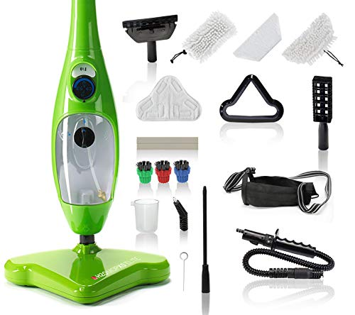 H2O Mop X5 Elite Mop 5 in 1 All-Purpose Hand Held Steam Cleaner for Home Use, with 17 Piece Accessory Kit