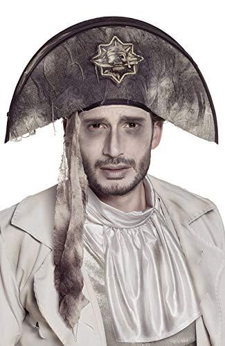 Boland 00820 Cappello Geister Pirata, Grigio/Nero